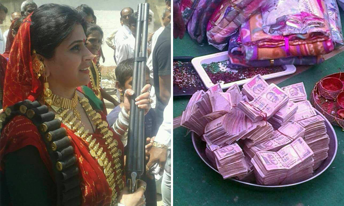 Guns, gold and more: Viral photos show what an Indian wedding for a gangster's daughter is like