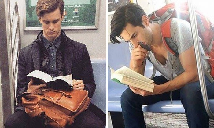 Attention, ladies! These hot and intellectual hunks will make you love your train ride