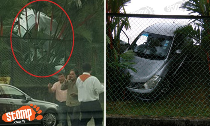 Car goes downhill while being parked at Upper Bukit Timah