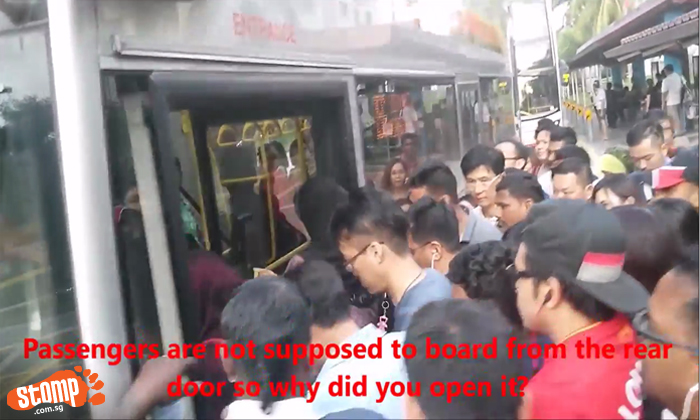 Crowds, chaos and conflict: It's seriously a nightmare trying to board Bus 856 in Woodlands