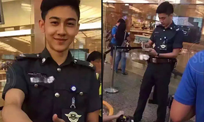 Photos 1 to 4 the handsome police officer who went viral after his photos were posted on SGAG.