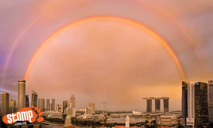 It's truly a good weekend with gorgeous double rainbows and sunset