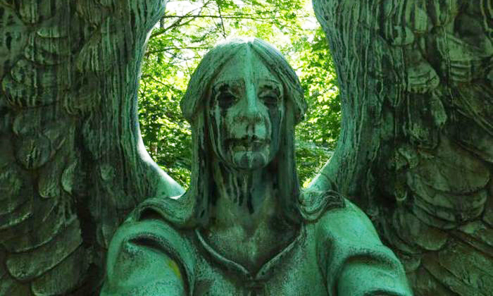 These statues might not be alive -- but they will seriously give you the creeps