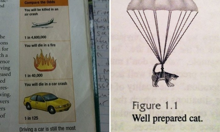 Yes, there super bizarre photos were actually found in students' textbooks