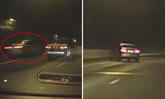 Driver goes oh-so-very fast to overtake cabby -- then ends up crashing and looking like a 'goodu'