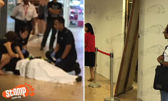 Woman in her 50s conveyed to hospital after reportedly getting hit by wooden door at Thomson Plaza