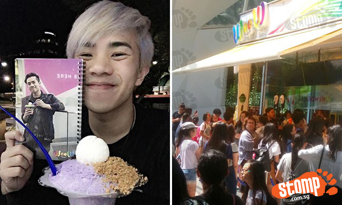 Crowds flock to S'pore YouTube star's meet-and-greet session at his Plaza Sing dessert cafe