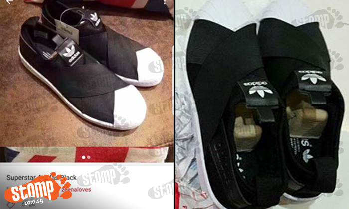 2656e58b9063 Woman buys  authentic  Adidas shoes from online seller -- which turn out to  be fake - Stomp