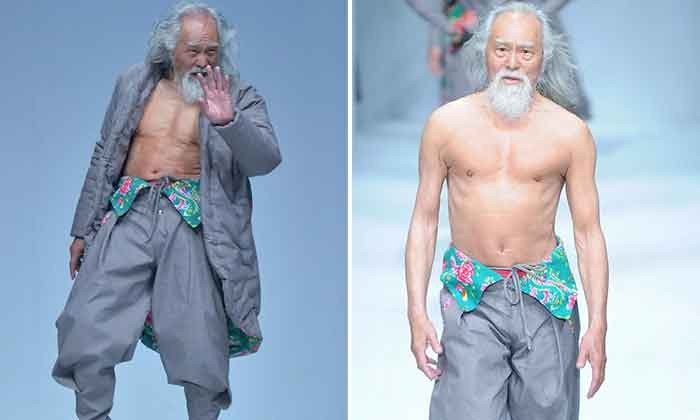 80-year-old actor tries modeling and slays in China