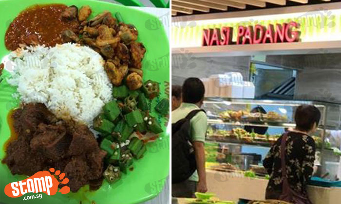 Would you pay $10 for this nasi padang meal woman bought from Northpoint stall?