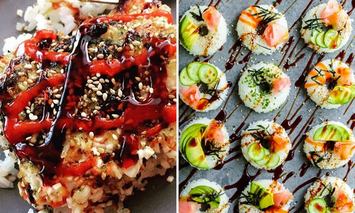 Sushi goes well with almost everything and here are some combinations that looks delicious