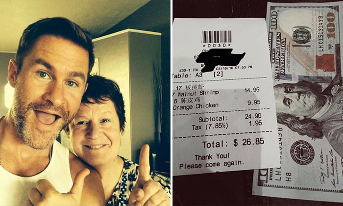 Man who was a child of divorced parents tips waitress $100 because she reminds him of his mum