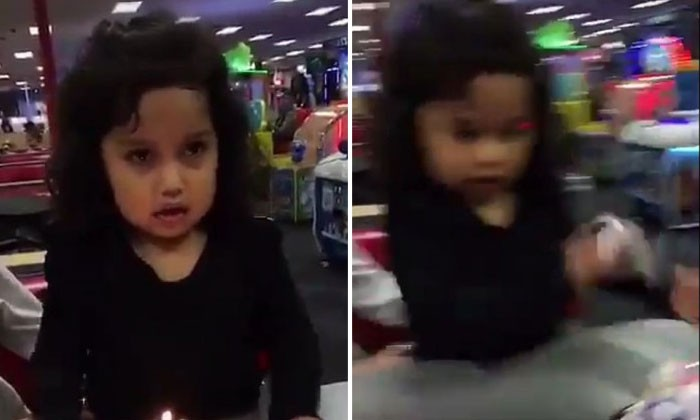 """Girl ruins her own birthday by throwing cake on the floor: Mum claims it is due to """"too much attention"""""""