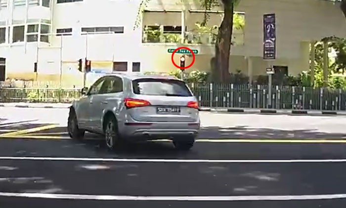 Driver who beat red light -- are you in such a rush that it is ok to endanger pedestrians' lives?