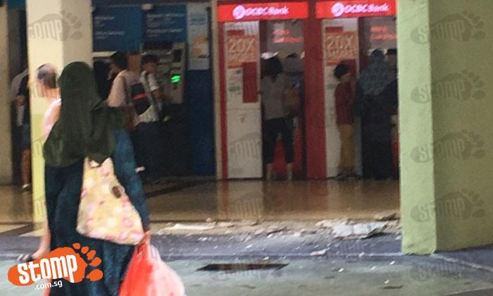 Ceiling falls off at Joo Chiat Complex