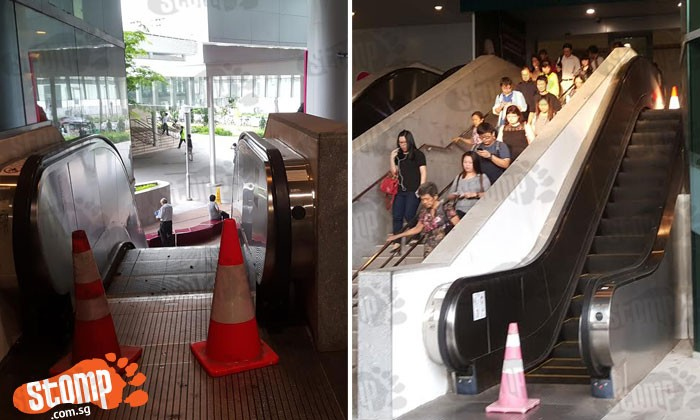 Poor Ah Mas and Ah Gongs in Bedok have to take stairs after escalator malfunctioned since early Dec