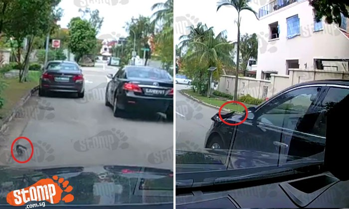 Caught on camera: Hit-and-run driver damages car at Mimosa Terrace