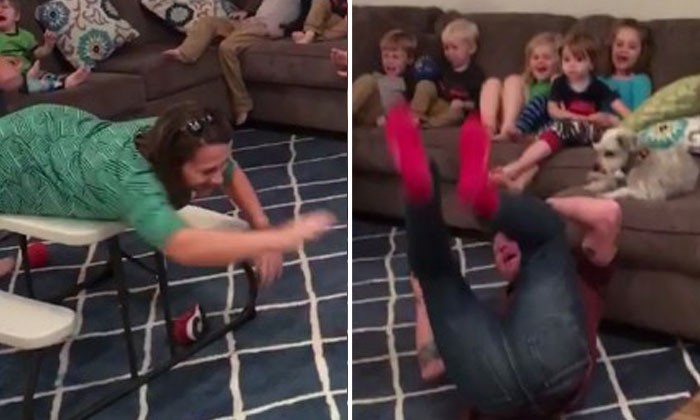 Parents give kids a taste of their own medicine by acting exactly like them as they watch