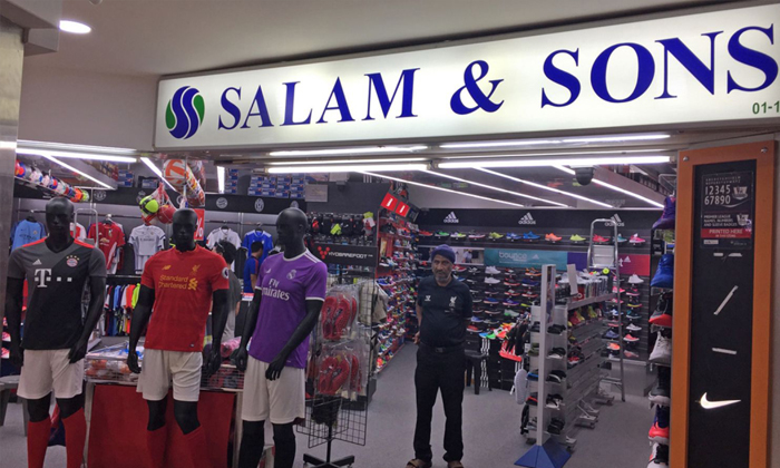 Nike will not be supplying to mom-and-pop stores from January 2017. The American brand's decision is a huge blow for small retailers like Salam & Sons. PHOTO: JUDITH TAN