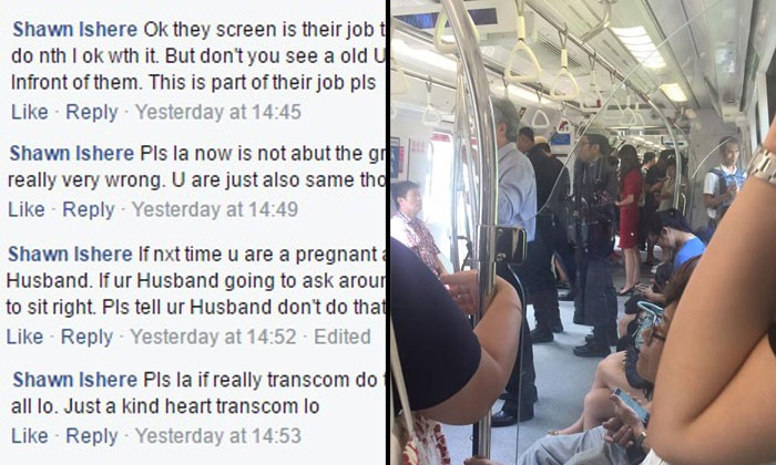 This guy thinks it's TransCom officer's job to help elderly find a seat, netizens make sure to teach him a lesson