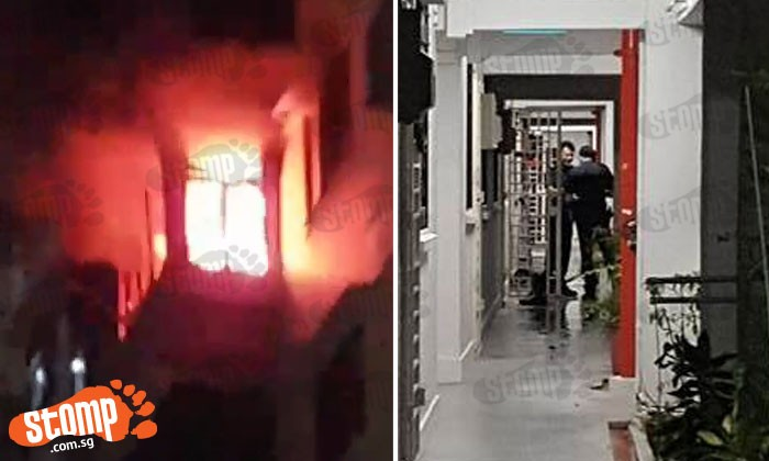 Fire breaks out at Block 4 Sago Lane in the early morning: 2 occupants sent to SGH for smoke inhalation