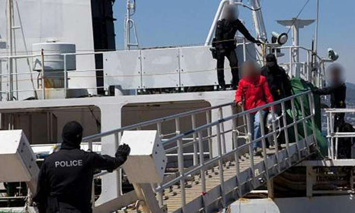 The Australian authorities raided a former whaling vessel on Dec 12 and seized about 180kg of cocaine worth more than A$60 million. They arrested a Singaporean man and nine Chinese nationals on board. Six Australians were later nabbed in connection with the case. PHOTO: AUSTRALIAN FEDERAL POLICE