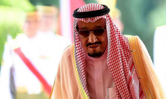 Saudi King Salman bin Abdulaziz departs following a welcoming ceremony at the Parliament House in Kuala Lumpur on Feb 26, 2017. PHOTO: AFP