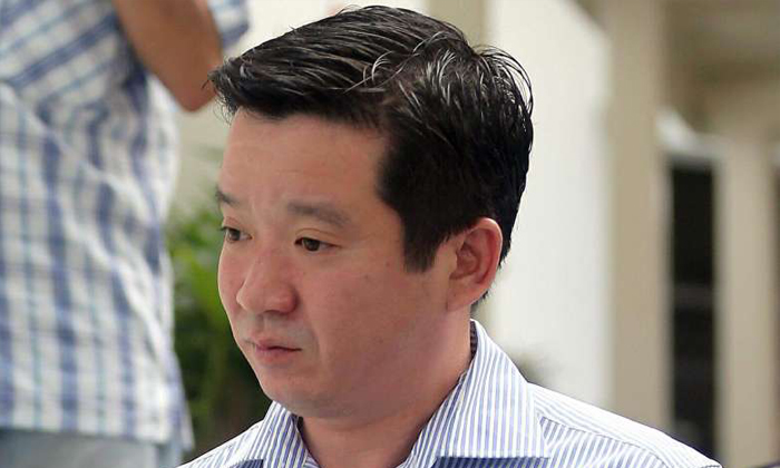 Howard Shaw Chai Li, arriving at the State Courts.ST PHOTO: WONG KWAI CHOW