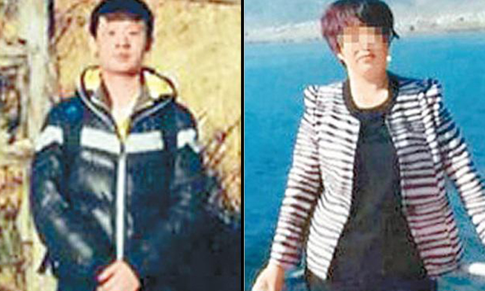 Photo:Lianhe Wanbao. The accused (on the left) and his mother (on the right)