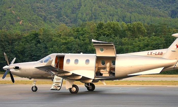 File photo of a Pilatus PC-12 aircraft