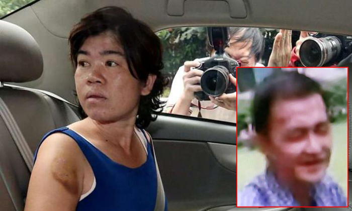 Praphuttha, a Thai national, was sentenced to five and a half years in jail. She had stomped on Mr Lee's (inset) head so hard that she fractured his skull. He died a few hours later. ST FILE PHOTO