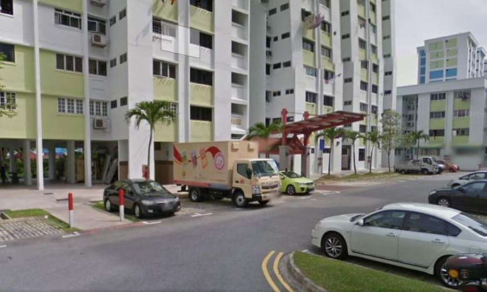 A view of Block 145, Yishun Street 11 where a knife attack on a 21-year-old man took place on April 2, 2017. PHOTO: GOOGLE MAPS