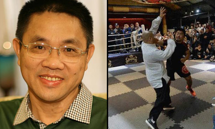 Photo: Shanghaiist. Tycoon Chen Sheng (on the left)