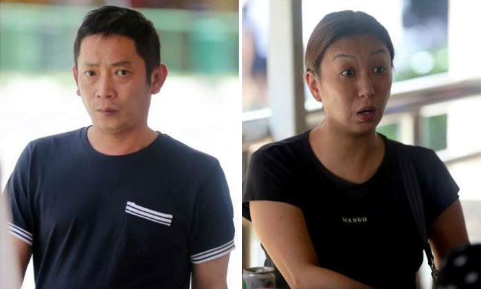 Tan Sung Meng (left) and Pang Pei Pei were charged in court with wrecking Heng Long Teochew Porridge in the wee hours of Saturday. Photos: ST, SPH, Facebook