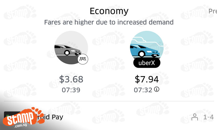 Passenger uses $5 promo code for uberPOOL and realises that