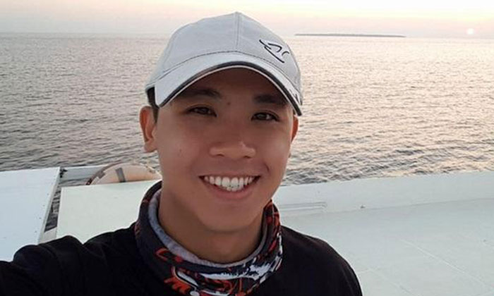 Photo: Facebook. The deceased, Mr Mario Low Ke Wei, was described as an adventurous individual.