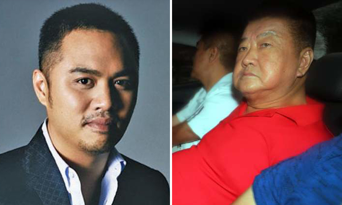Tan Nam Seng (right) was charged in court on July 12 with the murder of Mr Spencer Tuppani (left).