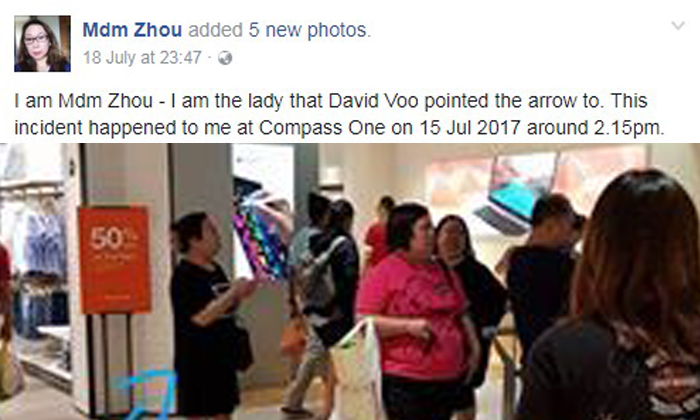 David Loo posted a photo of Mdm Zhou on Facebook and warned others to beware of her.