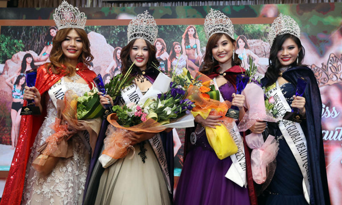 From left: Ms Grand Singapore Crystal Lim, Ms Singapore Chinatown Christina Cai, Ms Singapore Tourism Queen Tricia Koh and Ms Singapore Global Beauty Queen Amanda Li were the winners at the grand finals of the Miss Singapore Beauty Pageant 2017 last night. They will go on to represent Singapore internationally under each title. Photos: The Straits Times, Lianhe Wanbao, Shin Min Daily News
