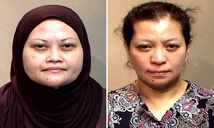 Assistant manager Arni Ahmad (left), who cheated the Singapore Statutory Boards Employees' Cooperative Thrift and Loan Society of $4.3 million, was sentenced to 12 years in jail. Administrative executive Hanati Jani(right) was jailed for nine years and eight months. The total amount involved in her case was $1.95 million.
