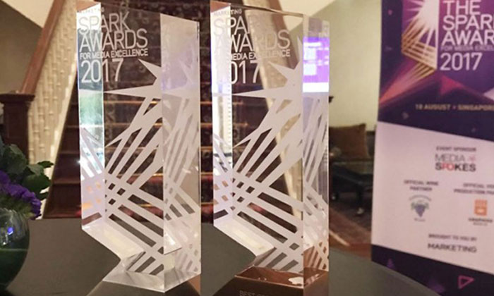 AsiaOne bagged two awards - silver for Best Website by a Media Owner and bronze for Best Corporate Branding - at the 2017 Spark Awards, held by Marketing Interactive at the InterContinental Singapore on Friday night (Aug 18). Photo: AsiaOne