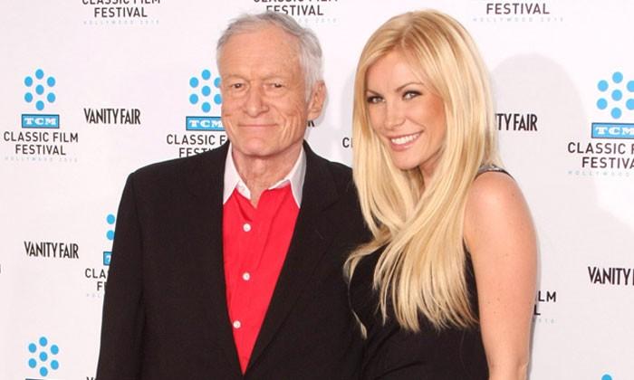 Hugh Hefner and wife Crystal Harris