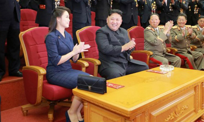 North Korean leader Kim Jong Un claps during a celebration for nuclear scientists and engineers who contributed to a hydrogen bomb test, in this undated photo released by North Korea's Korean Central News Agency (KCNA) in Pyongyang on September 10, 2017. PHOTO: KCNA via Reuters