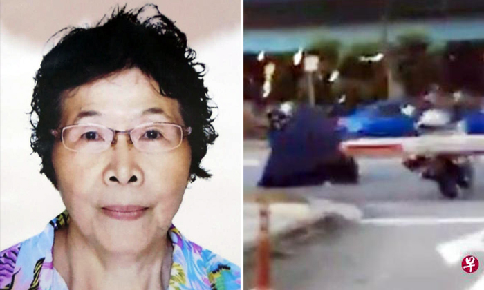 Mdm Xu Bao (left), 67, died after being hit by a taxi along West Coast Drive on Sep 27.