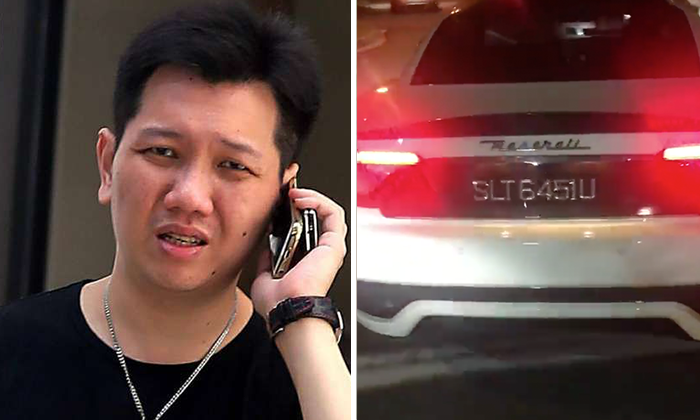 Lee Cheng Yan accelerated his Maserati car towards a TP officer, causing him injury. Photo (left): The Straits Times