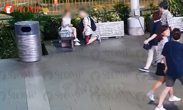 Stomper Chris spotted a man kneeling in front of his girlfriend at Orchard Road