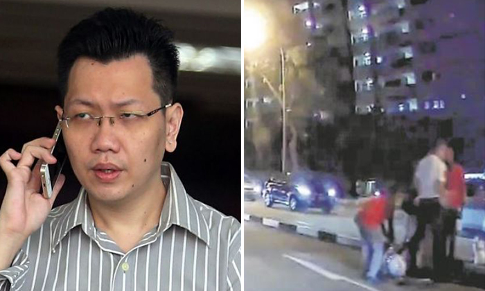 34-year-old Lee Cheng Yan (left) faces 15 additional charges after hitting a traffic police officer in a hit-and-run accidentST PHOTO: WONG KWAI CHOW