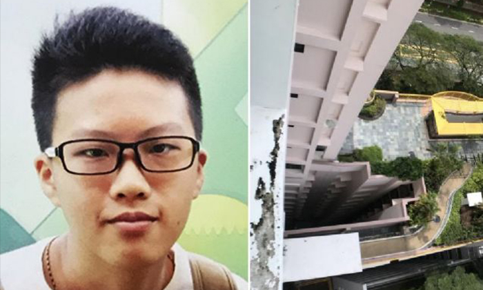 The 16-year-old boy (left) had reportedly fell to his death after playing a game of hide-and-seek. PHOTO: SHIN MIN DAILY NEWS