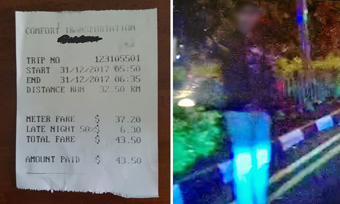 The receipt from the trip (left) and the passenger (right) whom Colin picked up.