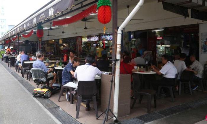 The coffee shop where the fight occurred. Photo: Lianhe Wanbao
